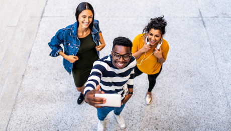 AFFCU Journey Checking Accounts Three Teens Taking selfie