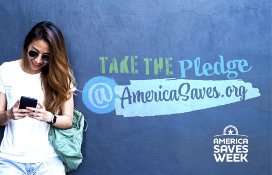 America Saves pledge banner