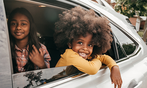Kids in car window