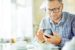 Man using mobile banking app