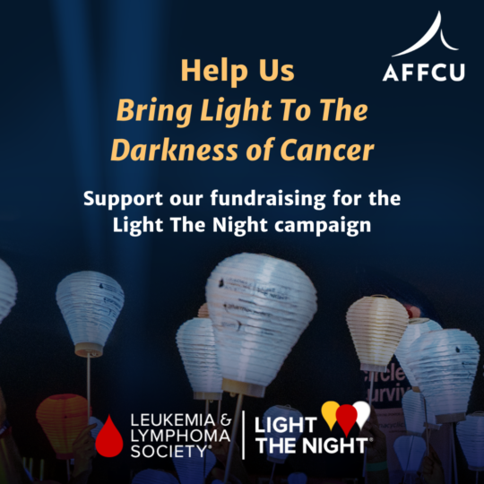 Light The Night Fundraising banner