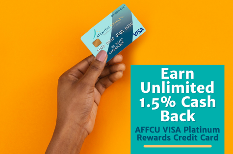 AFFCU Visa Platinum Rewards Credit Card. Earn 1.5% Cash Back