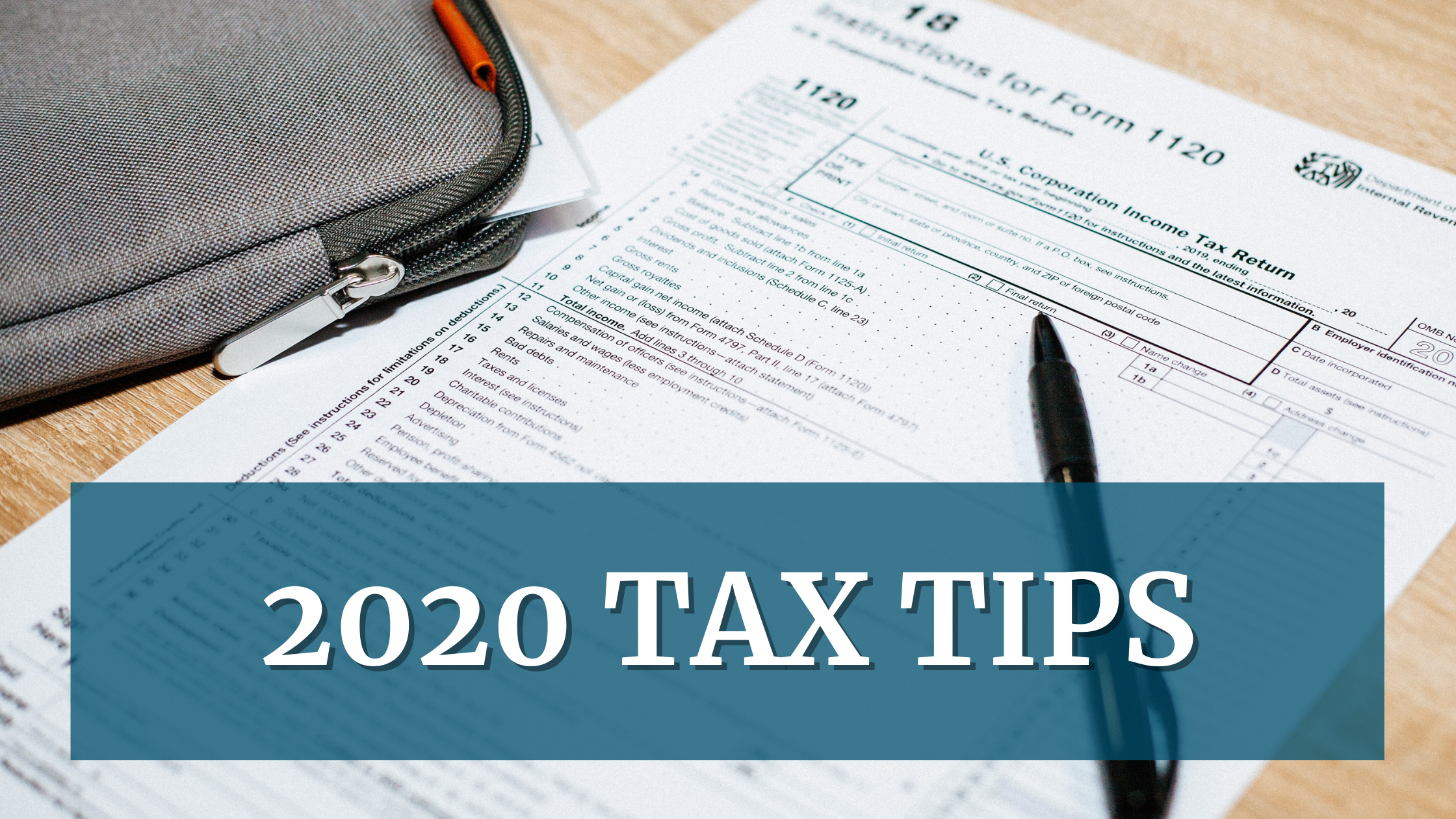 AFFCU 2020 Tax Tips Blog header- tax form image