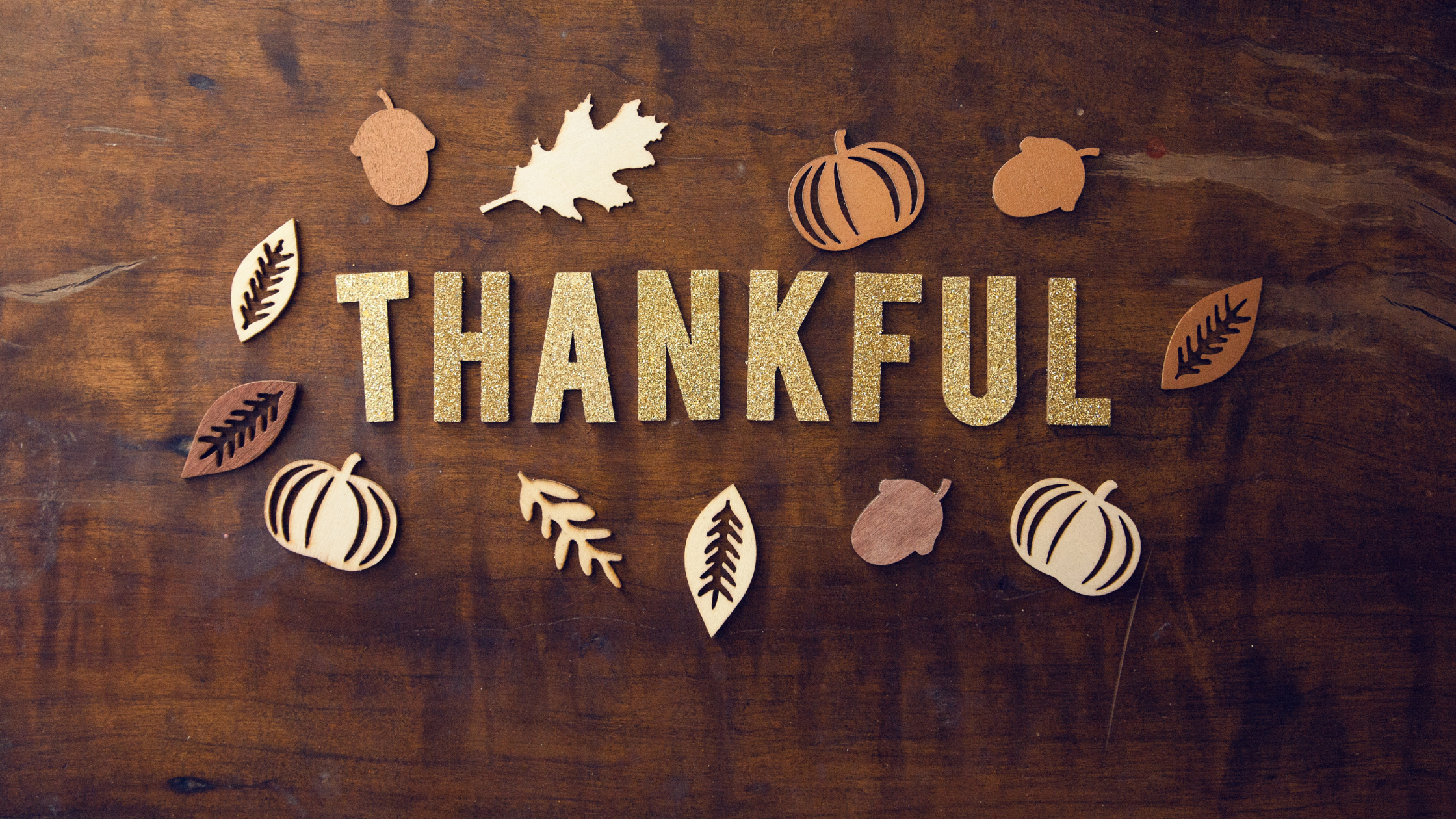 Image of word thankful