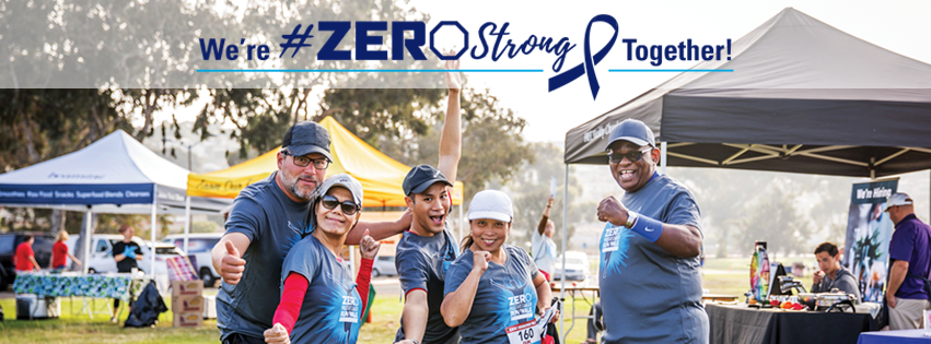Participants celebrating their effort in the zero walk to end prostate cancer