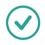 Success checkmark indicator inside a circle